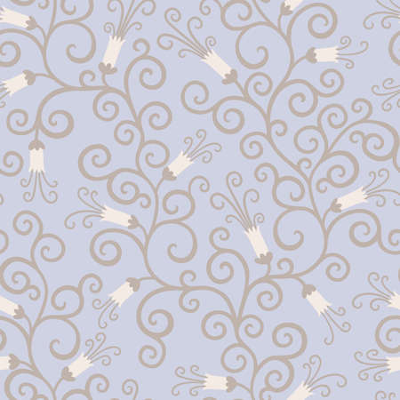 endless: Floral seamless background in retro style