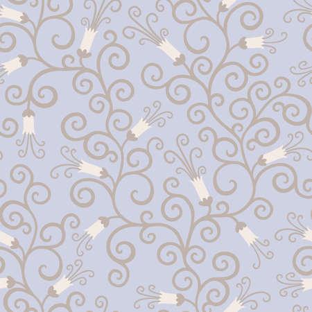 sin fin: Fondo floral transparente en estilo retro Vectores