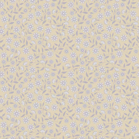 Elegant floral seamless background in beige colors