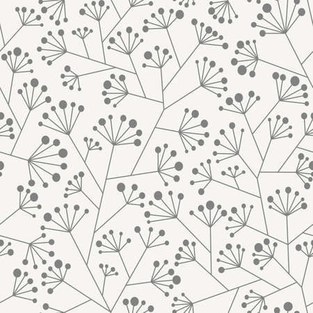 panicle: Abstract seamless pattern in two colors