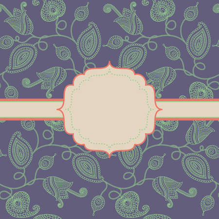 Decorative floral background with frame Illustration