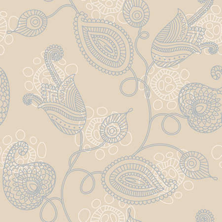 Elegant floral seamless pattern in pastel colors Vector