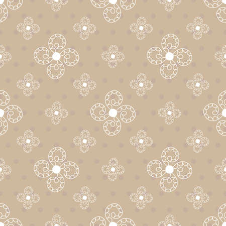 sinusoidal: Seamless abstract background in beige colors