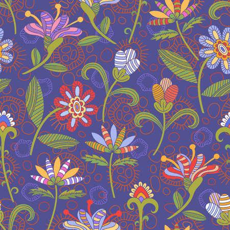 Patr�n sin fisuras con flores brillantes