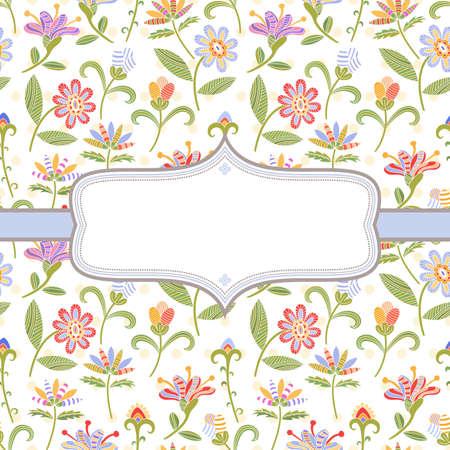 flowery: Fondo decorativo con flores brillantes