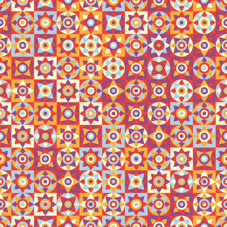 Abstract seamless pattern in bright colors Illustration