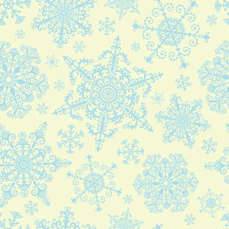 Patr�n sin fisuras con los copos de nieve decorativos Vectores