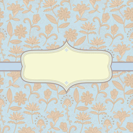 Elegant floral background. Illustration Vector