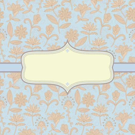 Elegant floral background. Illustration Illustration
