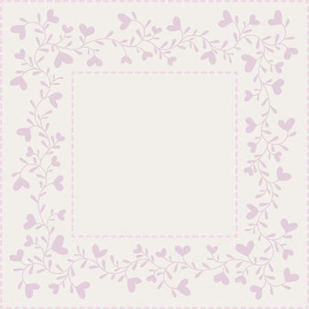 Background with hearts and frame in pastel colors Stock Vector - 17120420