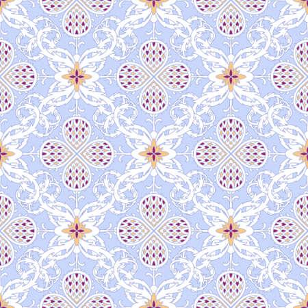 Floral pattern senza saldatura con foglie di torsione