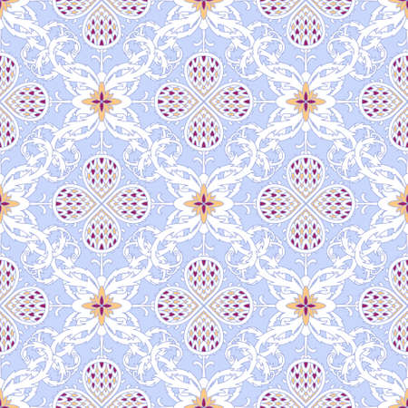 Floral seamless pattern with twisting leaves
