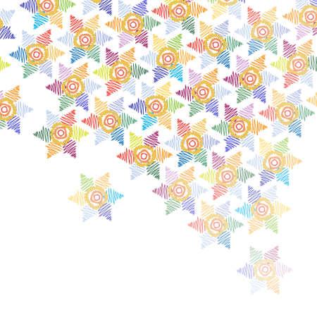 Resumen de color de fondo con flores. Ilustraci�n vectorial