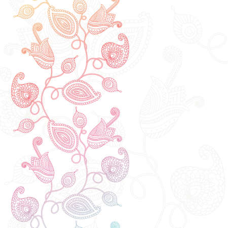 Decorative floral background (colorful flowers consist of compound path)