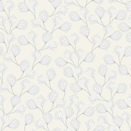 treelike: Seamless pattern with decorative leaves Illustration