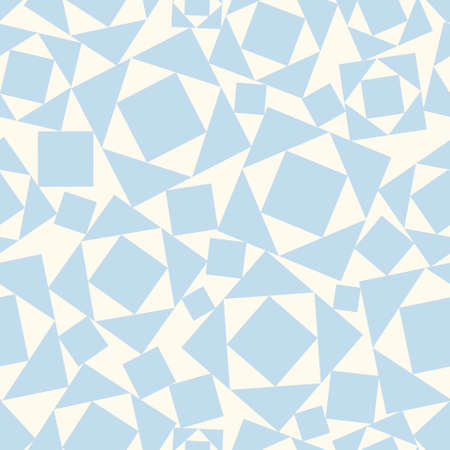 Abstract seamless pattern in two colors from squares and triangles