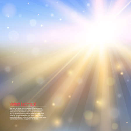 Abstract background with shining sun. Vector illustration EPS10