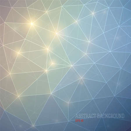 Abstract geometric background with lights in blue colors. Vector illustration EPS 10