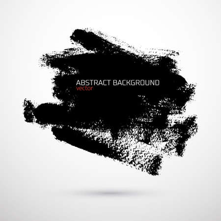 Abstract vector background with black stain on white  Illustration