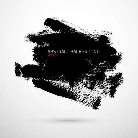 Vector de fondo abstracto con manchas negro sobre blanco Vectores