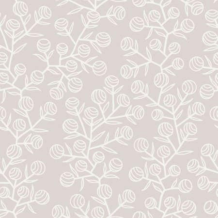 treelike: Monochrome seamless background in pastel colors Illustration