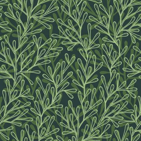 Abstract background senza soluzione di continuit� nei colori verde Vettoriali