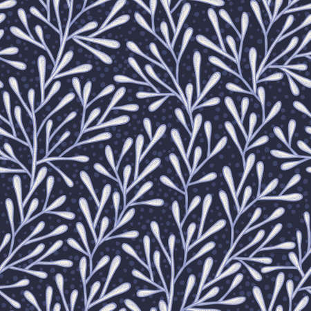 treelike: Abstract seamless pattern in blue colors