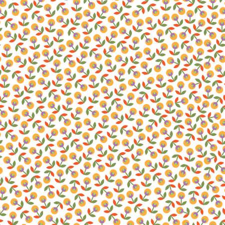 Colorful seamless con fiori su sfondo bianco Vettoriali