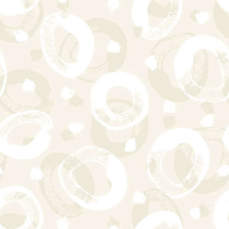 Abstract seamless pattern from circle brush strokes in pastel colors