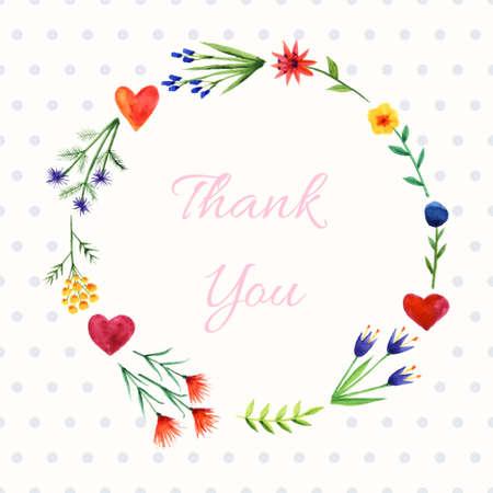 Fondo rom�ntico con la guirnalda de flores brillantes y corazones. Se puede utilizar como tarjeta de felicitaci�n o invitaci�n Vectores