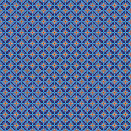 Modelo incons�til abstracto con una gran cantidad de elementos brillantes en colores azul y naranja