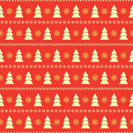 Natale sfondo trasparente con abeti bianchi e strisce da fiocchi di neve su sfondo rosso
