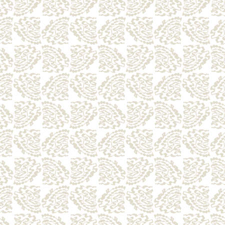 wriggle: Seamless pattern with abstract beige twisting and curved hand-drawn strokes on white background