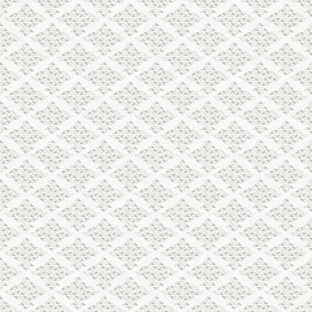 Abstract seamless pattern with grey rhombuses from small triangles on white background Illustration