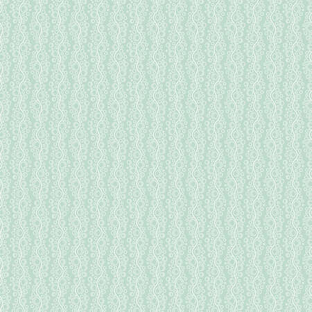 Seamless pattern with vertical stripes from white wavy lines with different sized bubbles on blue background Illustration
