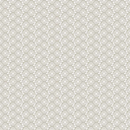 Elegant retro seamless background with a lot of white growing flowers on light brown backdrop