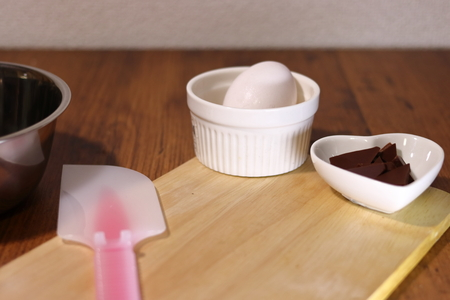 Cookware for making sweets. chocolate and egg