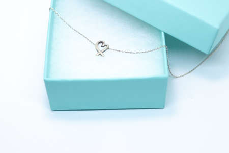 Heart necklace in a gift box