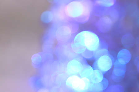 Bright blue and purple bokeh background material