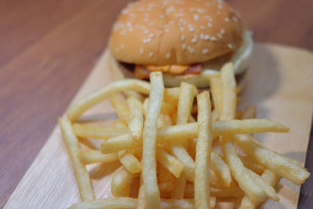 Hamburgers and French Fries 写真素材