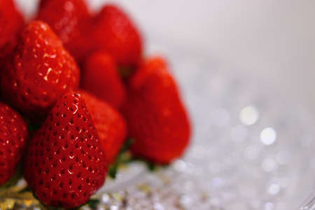 A lot of strawberries on the front page Foto de archivo