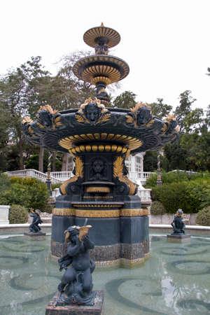 angels fountain: Fountain in Philarmonic gardens of Baku - Azerbaijan