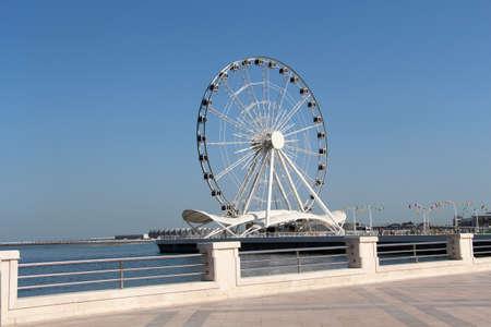 hight tech: Ferris wheel. Seafront in Baku, Azerbaijan.