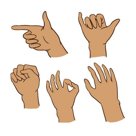 six gun: gestures of hand