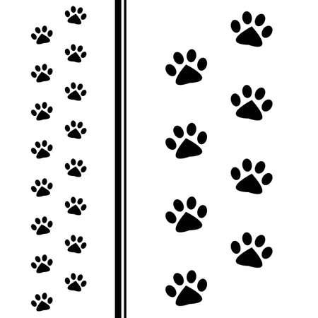 animal tracks: animal paw prints Illustration