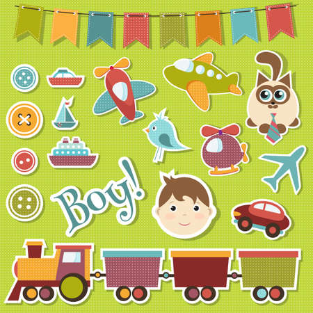 cartoon submarine: baby boy set