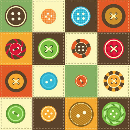 sewing buttons: various sewing buttons Illustration