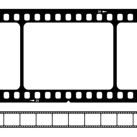 空白の 35 mm フィルム ストリップ