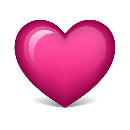 pink heart Vectores