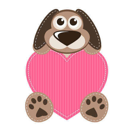 tot: Dog with pink heart